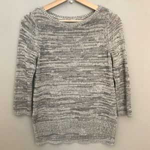 LOFT heather gray knit sweater top